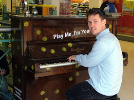 Luke Jerram by Piano