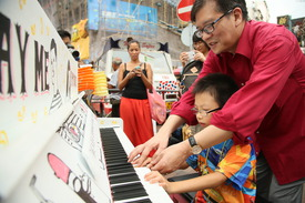 Piano lesson at PMQ Hong Kong 2015